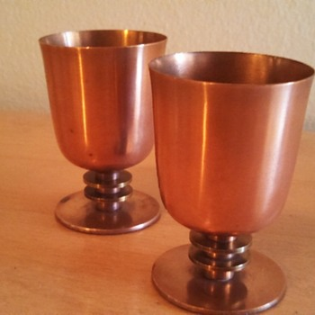 Art Deco Walter Von Nessen Cocktail Cups - Art Deco