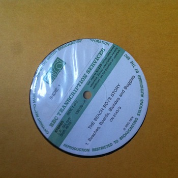 BBC Transcription discs. - Music Memorabilia