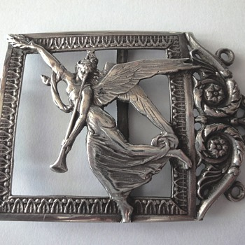 Art Nouveau Silver Buckle Part by Friedrich Reusswig - Hanau - 1903 - 1926.