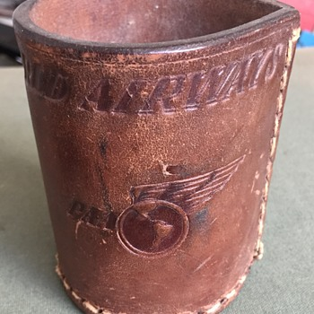 Vintage Pan Am PAA World Airlines Leather Dice Cup