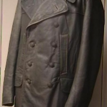 WW II German Leather Deck and Bridge Personnel Jacket