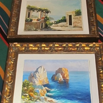 2 paintings by same artist - Arts and Crafts