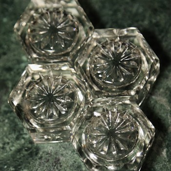 Cut Crystal Candle Holders - Glassware