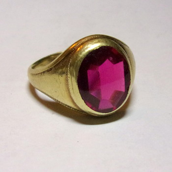 Great Grandfathers Gold & Ruby Ring