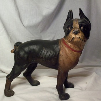 boston terrier doorstop - Folk Art