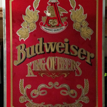 Budweiser King of Beers Metal Sign