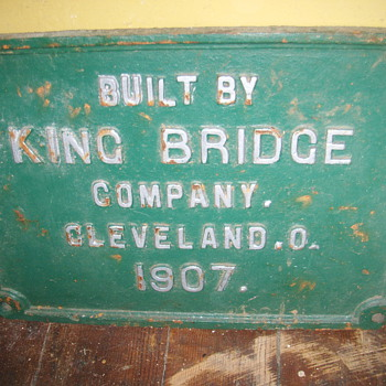 KING BRIDGE  PLATE - Railroadiana