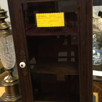 Today's thrift shop find antique advertising cabinet