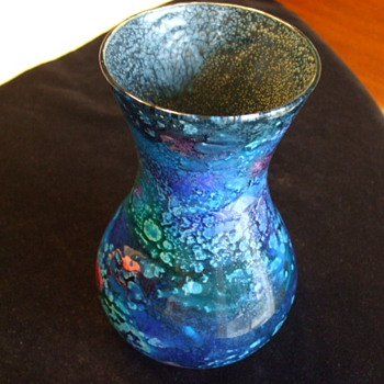 Very Unusual ISLE OF WIGHT - Mdina?  VASE by MICHAEL HARRIS - Art Glass