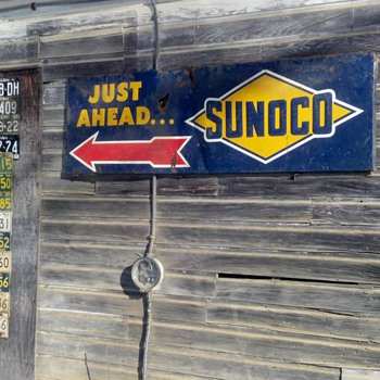 sunoco just ahead - Petroliana