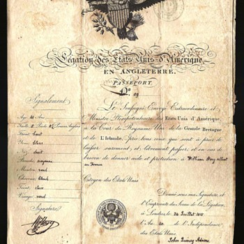 Early 1815 US passport from London.