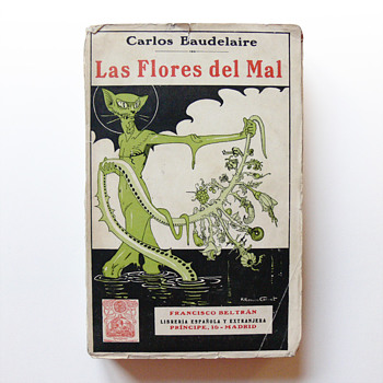 LAS FLORES DEL MAL (The Flowers of Evil), cover illustration by Rafael Romero-Calvet (1923)