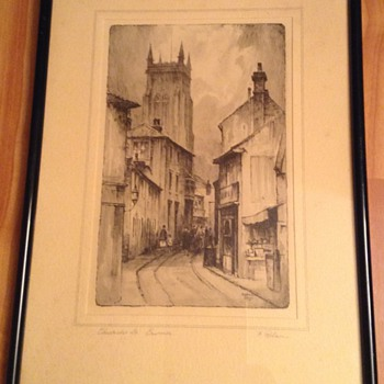 F Robson - Church Street Cromer - Visual Art