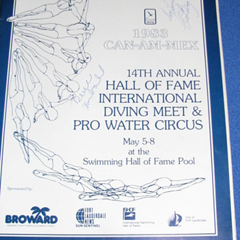 1983 Hand Signed Program by USA Divers Greg Louganis & Bruce Kimball