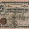 Street and Suburban railway stock certificate