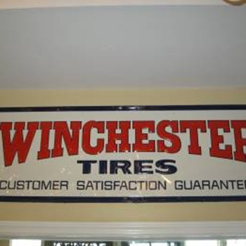 Winchester Tires sign - Petroliana