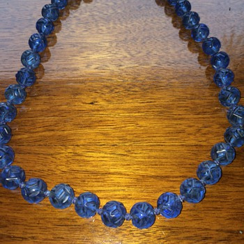 Beautiful Blue Glass Beads - Costume Jewelry