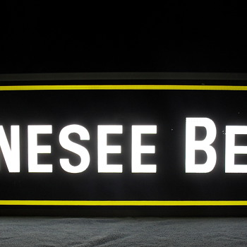 Vintage Genesee double sided sign