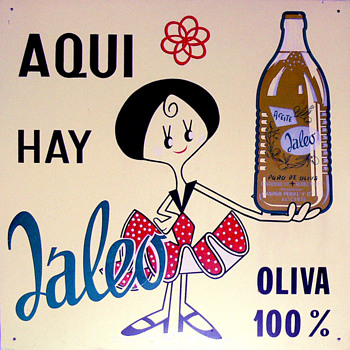 JALEO olive oil sign (Spain, 1960s)