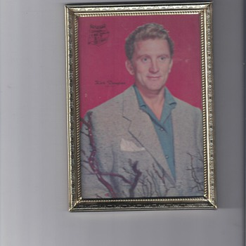 KIRK DOUGLAS ADVERTISEMENT FOR PICTURE FRAME