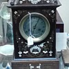 unknown ivory bone inlaid mantle timepiece