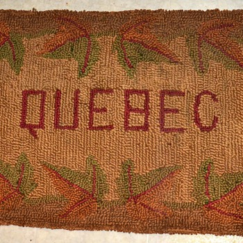 Hooked Rug from ???  QUEBEC!