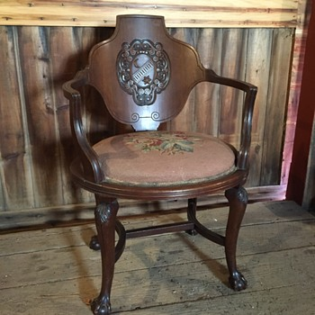 six-pointed star & crescent ball & claw chair