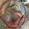 Pink Glass Basket