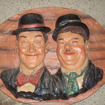 Large 3D Laurel &amp; Hardy wallhanging