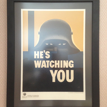 WWII Propaganda Poster | He's Watching You - Posters and Prints