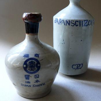 sake bottles? soy sauce? - Bottles