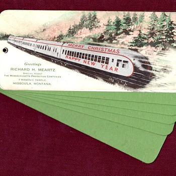 Christmas Train Blotting Paper Advert  - Office