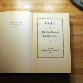 Here Lies: The Collected Short Stories of Dorothy Parker, 1939