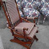 Lincoln rocking chair on wheels &amp; 1880 German Bible my first two antiques! 