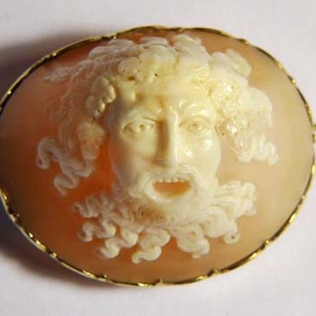 Wonderful full head of Bacchus with teeth - Victorian Era