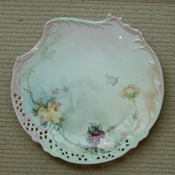 Handplated porcelain plates - Art Pottery