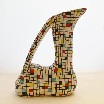 Mayolica Gazelle vase. Ars Deruta (Italy, 1950s) - Art Pottery