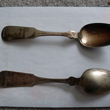 J&J H(?)all spoons - Sterling Silver