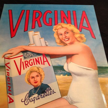 Virginia Cigarettes tin sign