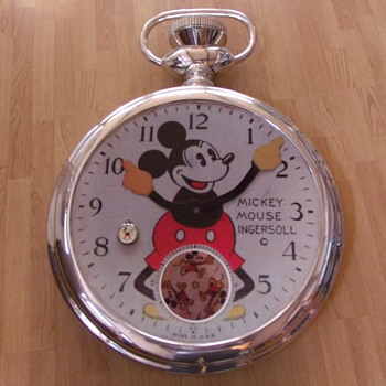 Hand Crafted Super-Sized 1933 Mickey Mouse Pocket Watch - Wristwatches