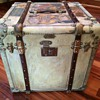 French (Cube) Trunk marked Malle Elyse'e  Early 1900s to 1910s