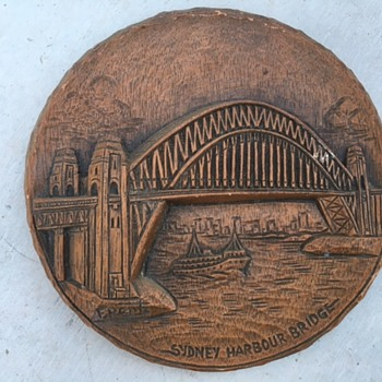 F Rentz Wood Carving Sydney Harbour Bridge