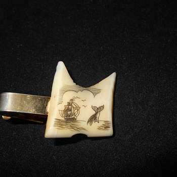 Scrimshaw tie clip - Accessories