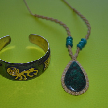 For Freiheit : bracelet and necklace from Peru - Costume Jewelry