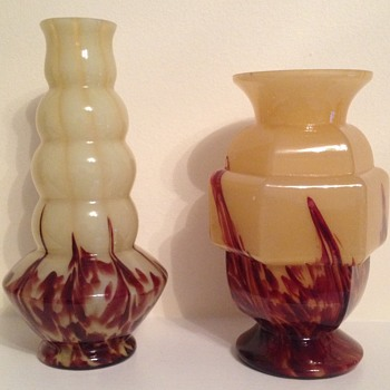 Pair of Art Deco vases  - Art Glass