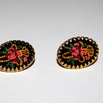 Embroidered earrings...