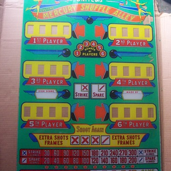 PinBall Machine Glass 1953-1954