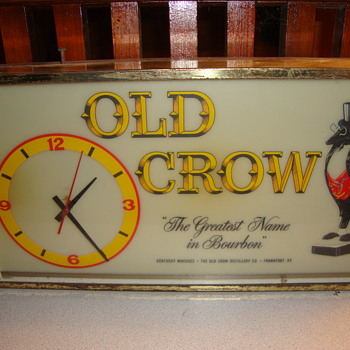 Vintage OLD CROW Clock...........