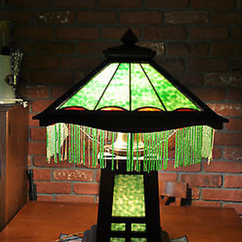 Antique Mission Style Arts and Craft Lamp -- W.B. Brown?  - Lamps