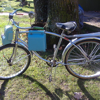 1956 Schwinn Bicycle &amp; Electric Motor - Outdoor Sports